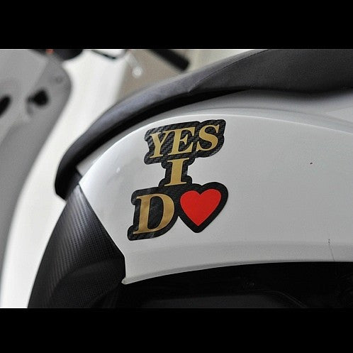 YES I DO Car Decal Multi-layered sticker