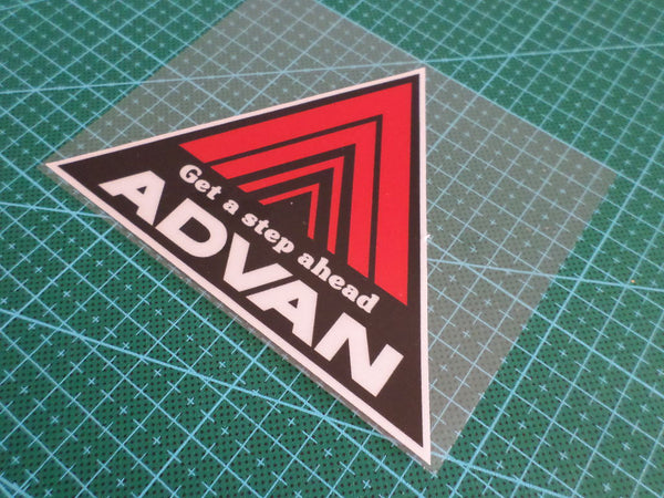 ADVAN Get a step ahead JDM Drift Reflective Decal Sticker