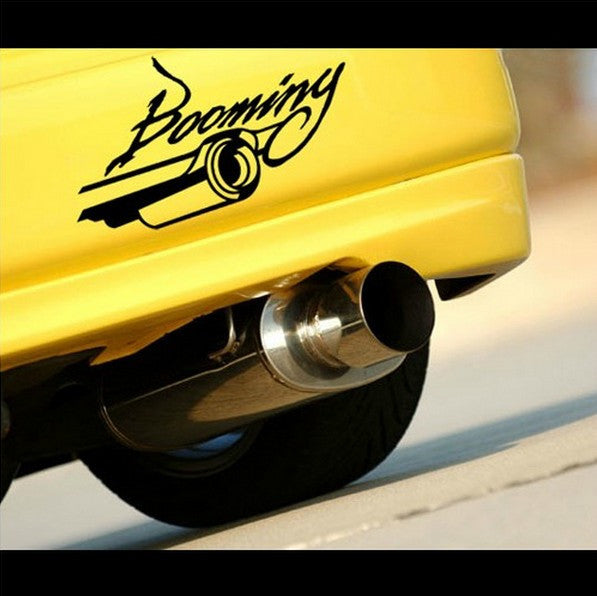 Booming exhaust jdm modified car decal sticker