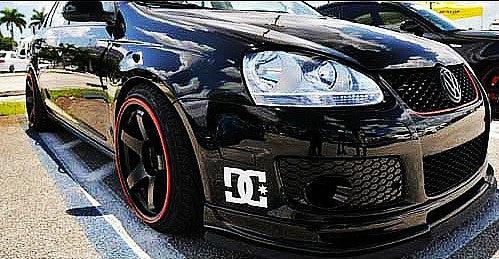 DC Front Bumper Skateboard Car Decal Quality Sticker