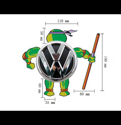 Rear logo DIY tmnt Teenage Mutant Ninja Turtles Reflective Decal Sticker - Don