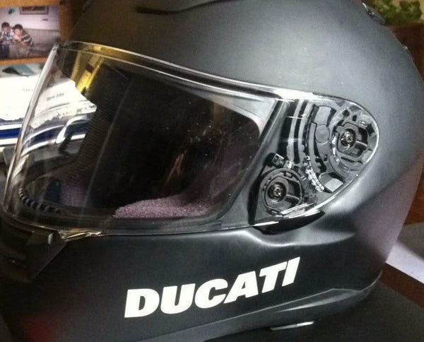 2 Pics DUCATI Helmet Motorcycle Racing MotoGP Decal Sticker