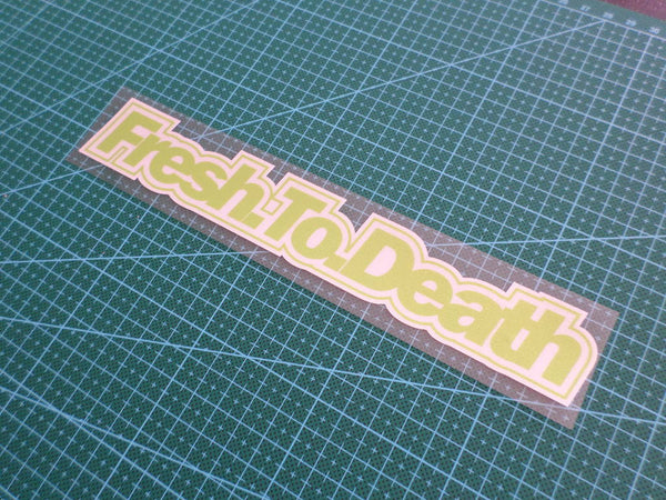 Fresh.To.Death JDM euro Reflective CAR Decal Sticker