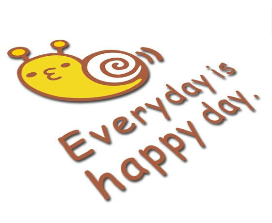 Happy Snail 'Every day is happy day' Car Decal Reflective Sticker