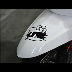 Hello Kitty with sunglass  Motorcycle Decal Sticker