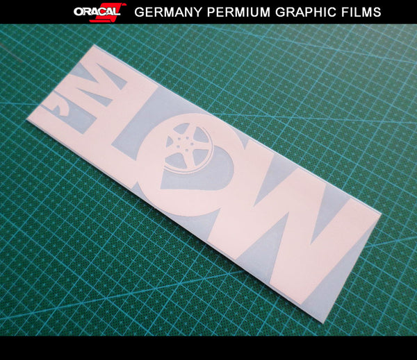 I'M LOW Racing JDM Euro Dub Decal Car vinyl Sticker