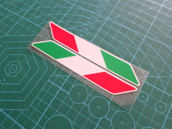 Pair of Italy Flag DUCATI Motorcycle Moto GP Fuel tank helmet Reflective sticker