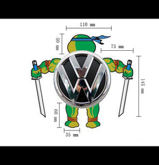 Rear logo DIY tmnt Teenage Mutant Ninja Turtles Reflective Decal Sticker - leo