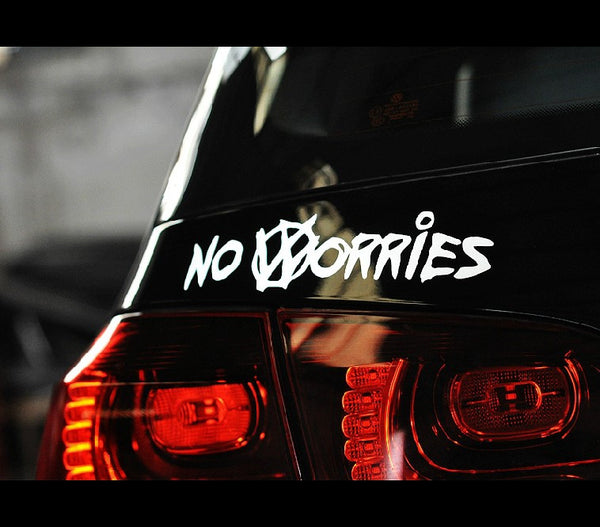 NO WORRIES VW GOLF EURO GTI JDM Car Decal sticker