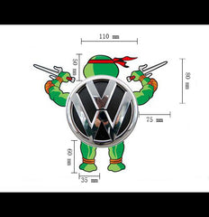 Rear logo DIY tmnt Teenage Mutant Ninja Turtles Reflective Decal Sticker - Raphael