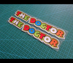 2 Pics THE DOCTOR Rvalentino Rossi Reflective MotoGP Decal #08