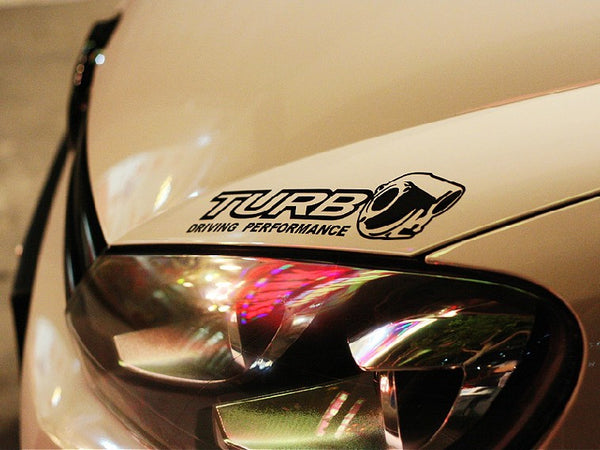 TURBO DRIVING PERFORMANCE JDM Car decal Sticker