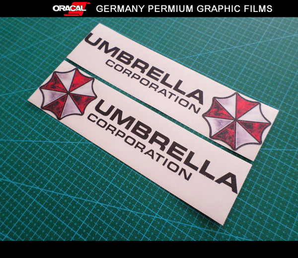 Pair of UMBRELLA CORPORATION BIOHAZARD Resident Evil Car Motorcycle Sticker