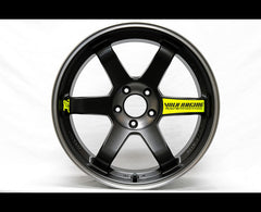 4 X Volk Racing BLACK EDITION Wheel Rays Engineering & TE37SL Drift Car Decal Sticker