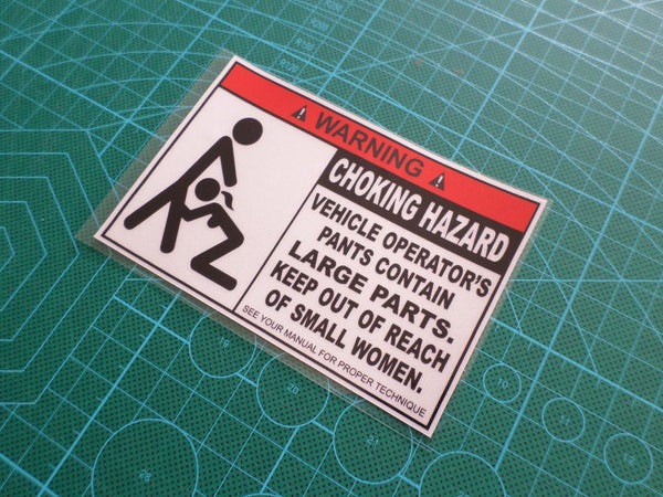 ! WARNING CHOKING HAZARD Jeep Ute Truck HSV JDM Reflective Decal Sticker