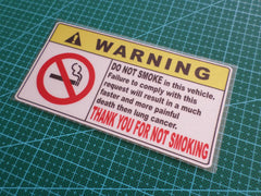 ! WARNING DO NOT Smoke JDM Off-Road 4x4 GTS HSV Sign Reflective Decal Sticker