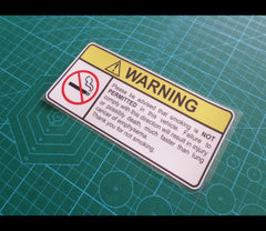 ! WARNING smoking is NOT PERMITTED baby children safety car Reflective Decal Sticker