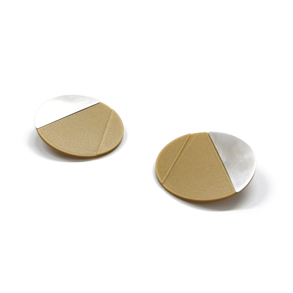 DUO earrings Curve big pair