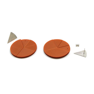 DUO earrings Triangle big pair