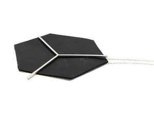 Bauhaus 100 pyramid necklace