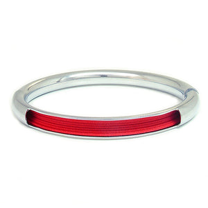 Push & Pull bracelet Chromed with elastic, red