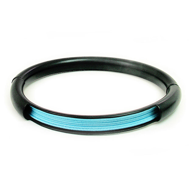 Push & Pull bracelet Thermocoated with elastic, light blue