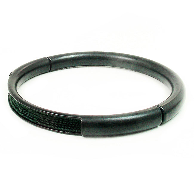 Push & Pull bracelet Thermocoated with elastic, dark green