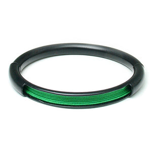 Push & Pull bracelet Thermocoated with elastic, green