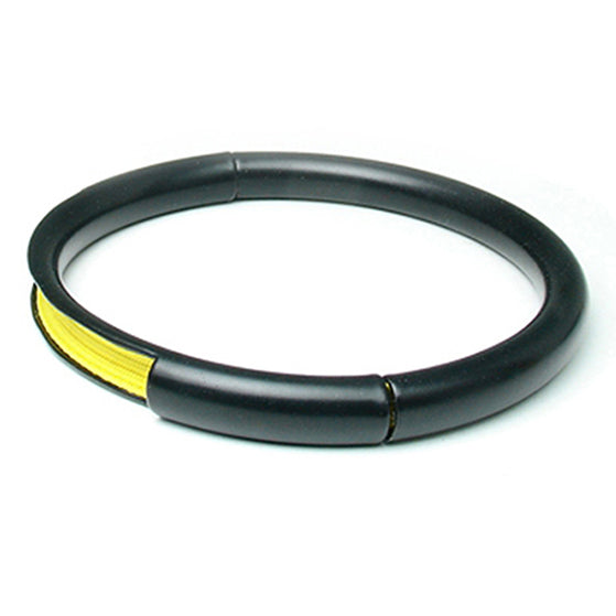 Push & Pull bracelet Thermocoated with elastic, yellow