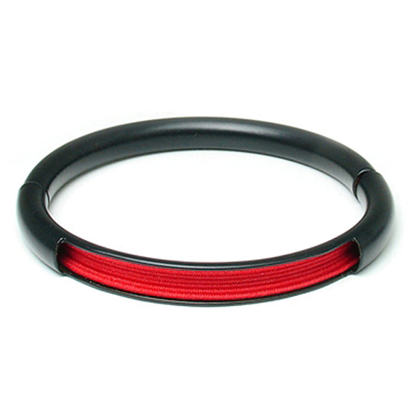 Push & Pull bracelet Thermocoated with elastic, red
