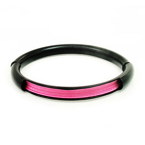 Push & Pull bracelet Thermocoated with elastic, pink