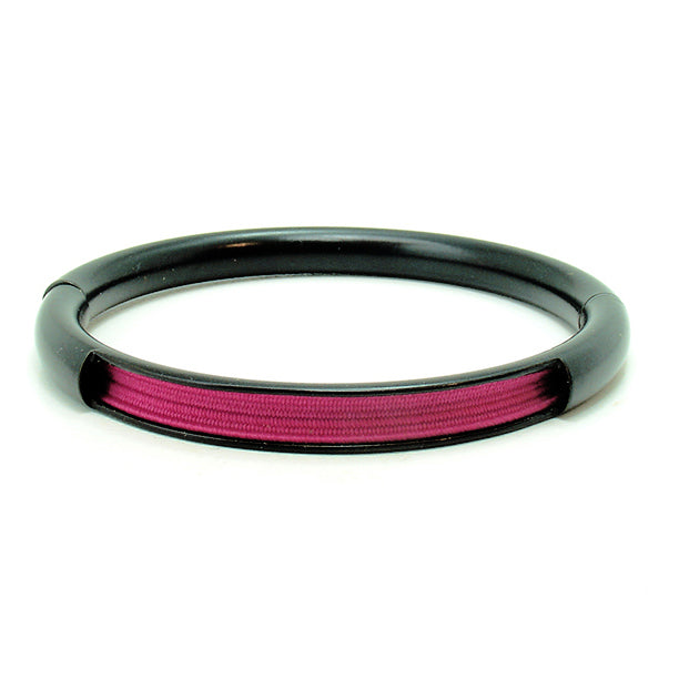 Push & Pull bracelet Thermocoated with elastic, fuchsia