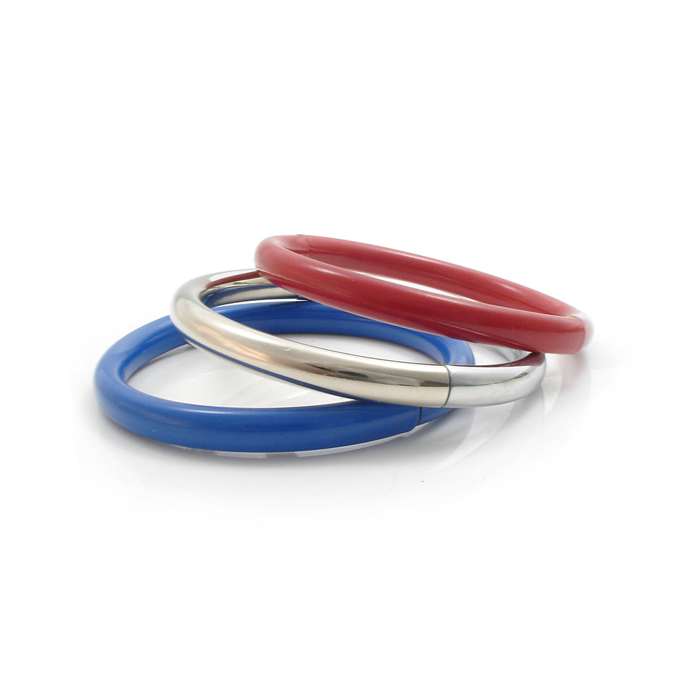 Push & Pull bracelet Thermocoated in red