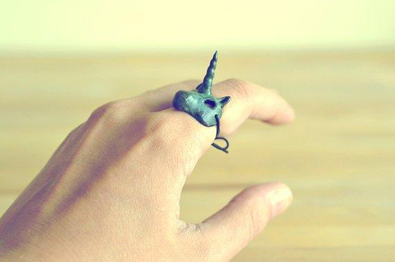 The Unicorn Mask ring
