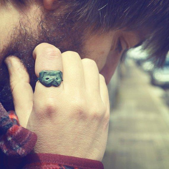 The Pug Mask ring