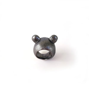 I'm All Ears - Grey Teddy Bear ring