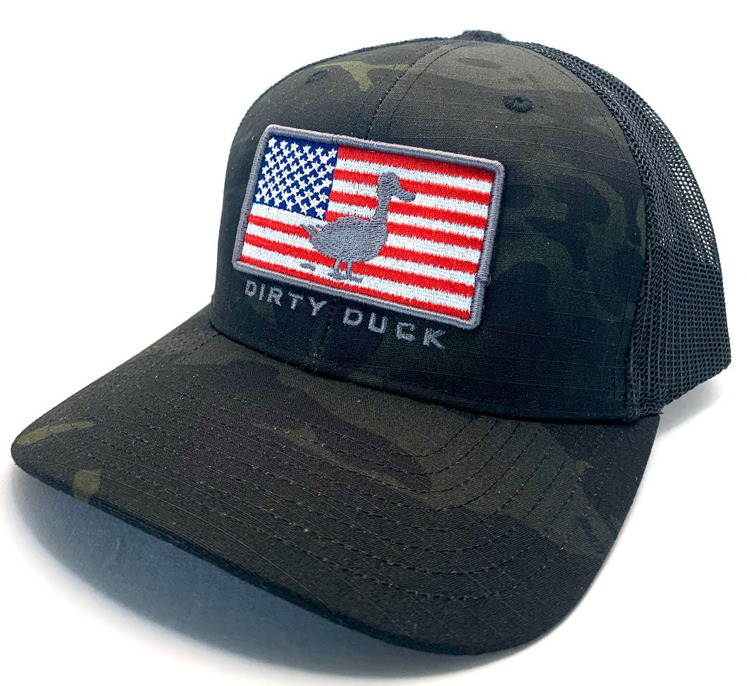 Duck America Black Multi Camo