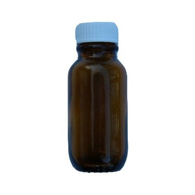 25mL amber bottle with white screw cap included