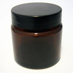 Essential Oils and Soap - amber glass jar