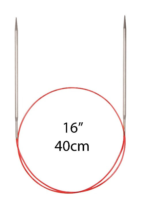"Addi Lace Fixed Circular Needles - 40cm (16"") - The Needle Store"