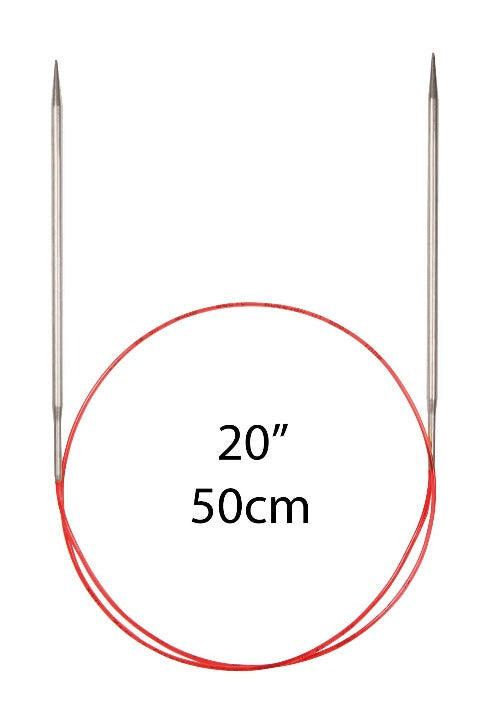 "Addi Lace Fixed Circular Needles - 50cm (20"") - The Needle Store"