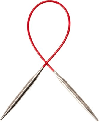 "ChiaoGoo RED Steel Fixed Circular Needles - 100cm (40"") - The Needle Store"