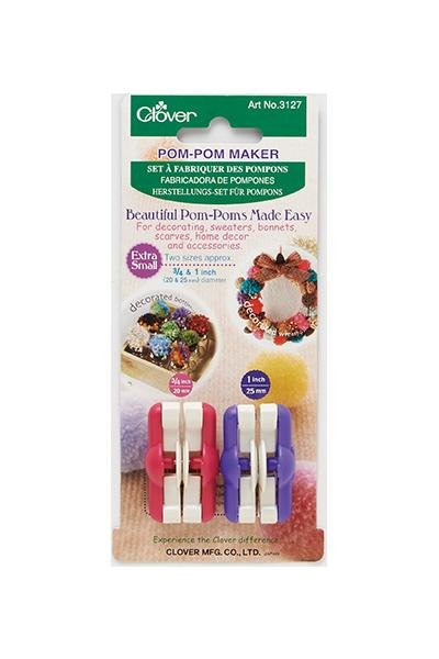 Clover Extra Small Pom-Pom Maker Kit - The Needle Store