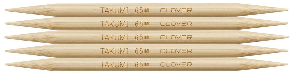 "Clover Takumi® 12.5cm (5"") Bamboo Double Pointed Needles - The Needle Store"