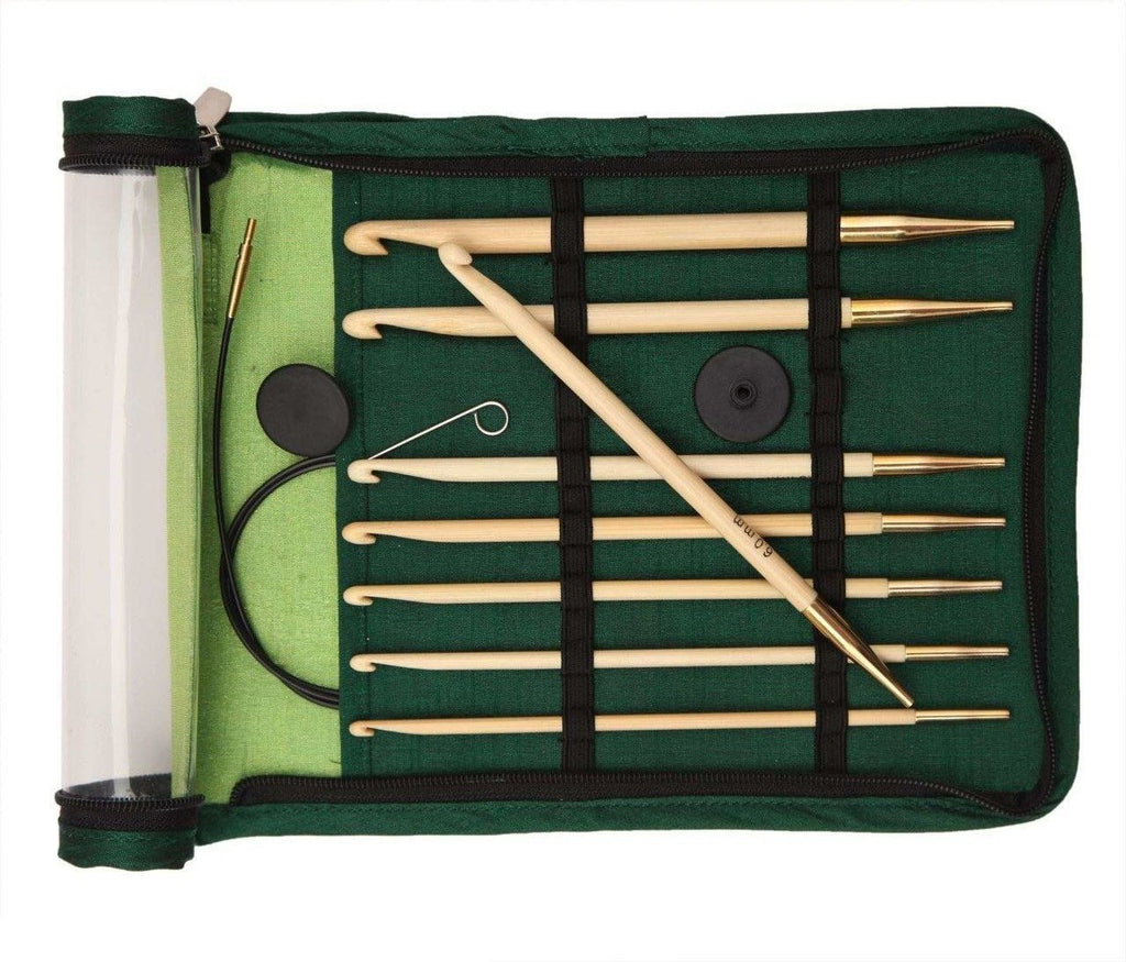 KnitPro Bamboo Afghan/Tunisian Crochet Hook Set - The Needle Store