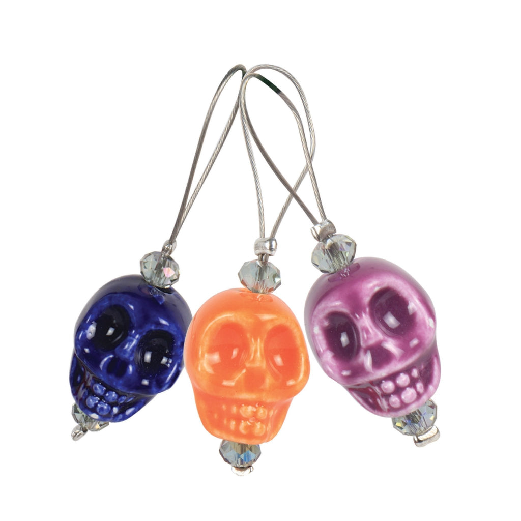KnitPro Zooni Bead Stitch Markers - Skull Candy - The Needle Store