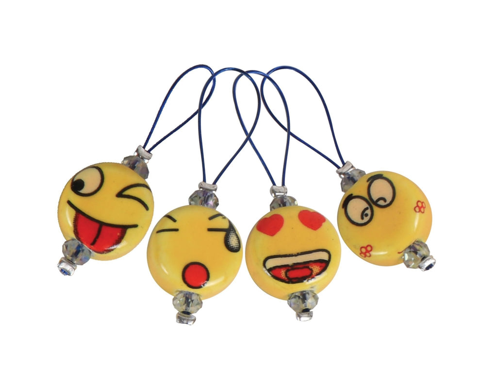 KnitPro Zooni Bead Stitch Markers - Smileys - The Needle Store