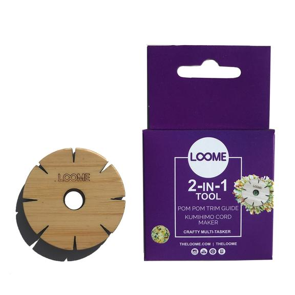 Loome 2-IN-1 Pom-Pom Trim Guide & Kumihimo Cord Maker - The Needle Store