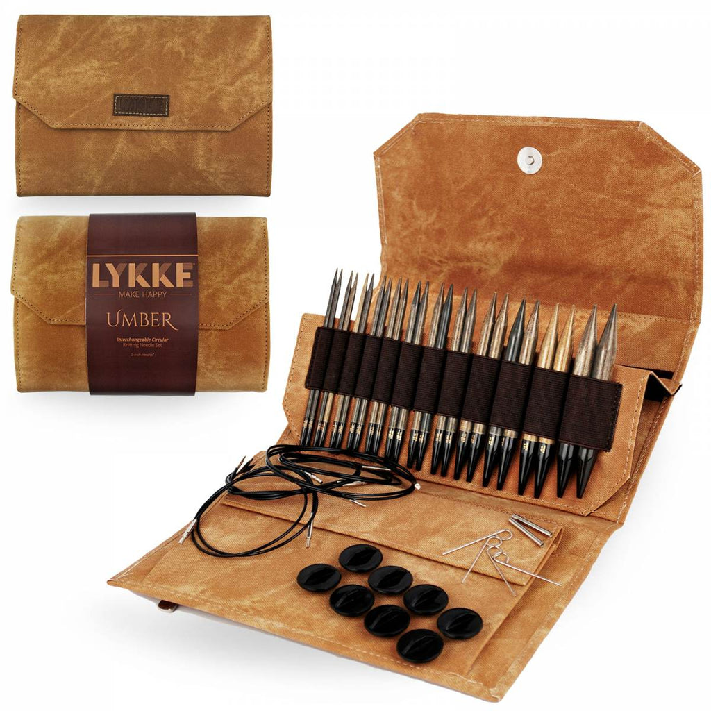 "LYKKE 13cm (5"") Interchangeable Needle Set - Umber - The Needle Store"