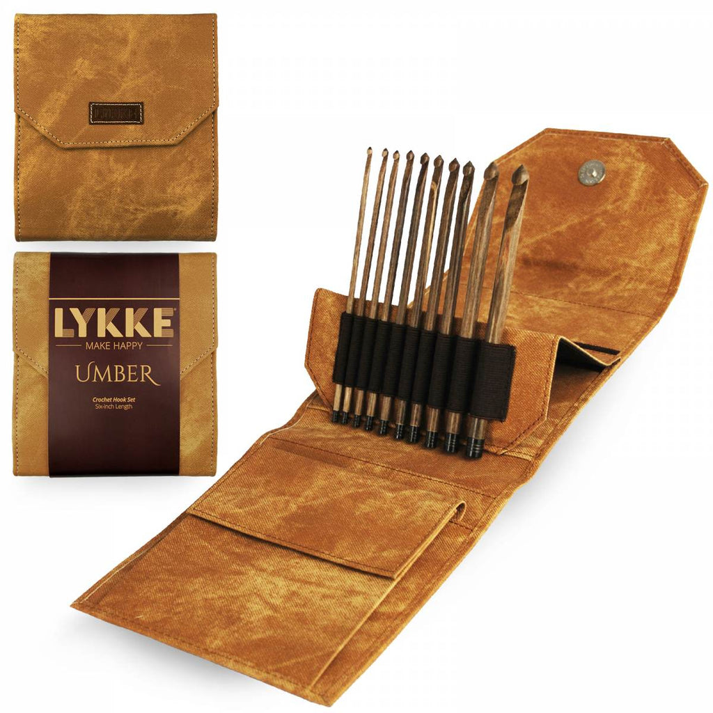 "LYKKE 15cm (6"") Crochet Hook Set - Umber - The Needle Store"